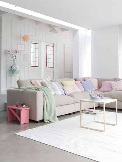 Be Bold, And Mix Different Pastel Colours! Because Pastel Colours Are So  Soft, They Match Each Other Really Well! Balance The Room With Grey  Furniture.