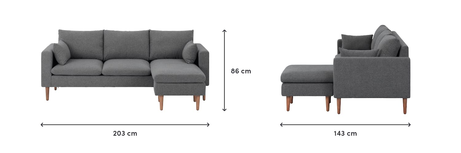 Diagram of product dimensions