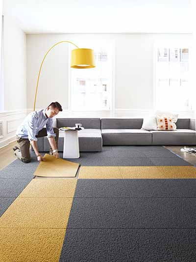 14 steps to a family friendly living room blog hipvan for Carpet squares for kids rooms