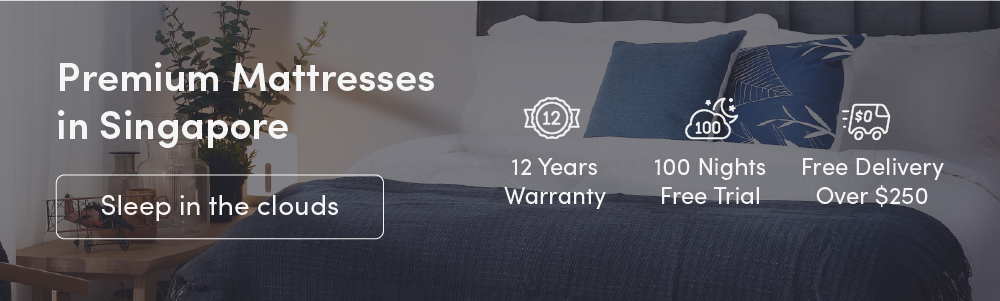 Mattress advertising banner displaying unique selling points