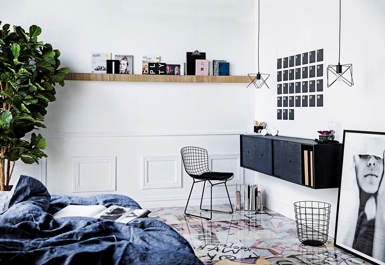 4. Mount Shelving Units to Create a Wall Desk & 8 Ideas For Small Study Spaces | HipVan